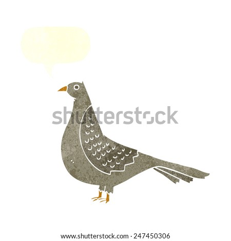 cartoon pigeon - stock vector