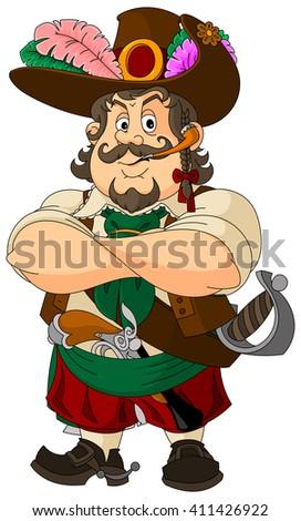 Cartoon pirate - stock vector