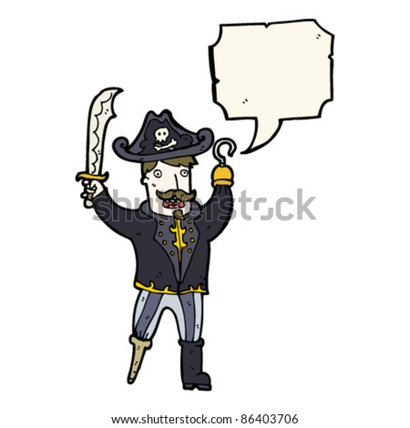 cartoon pirate captain - stock vector