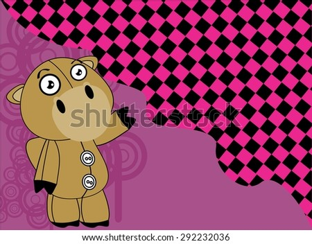 cartoon plush baby camel background