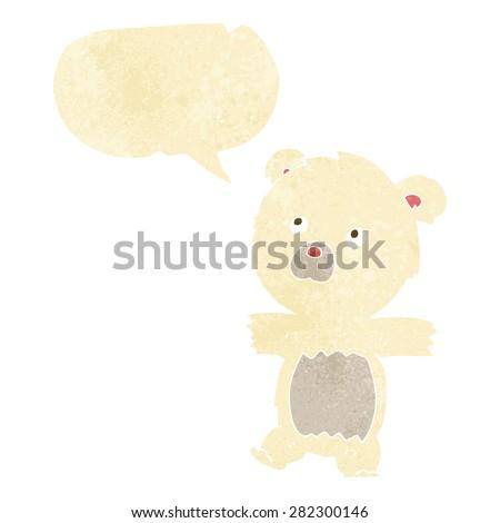 cartoon polar bear - stock vector