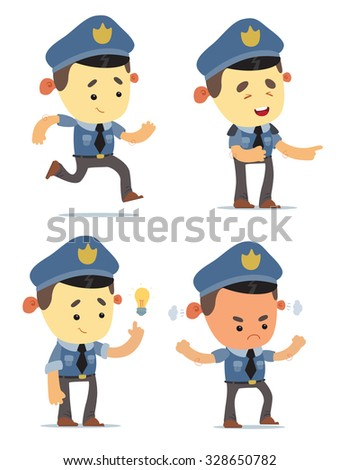 Cartoon Policemen - stock vector