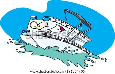 Lovely Cartoon Pontoon Boat Stock Vector 191504705 - Shutterstock NB81