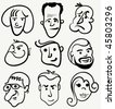 cartoon portrait - stock photo