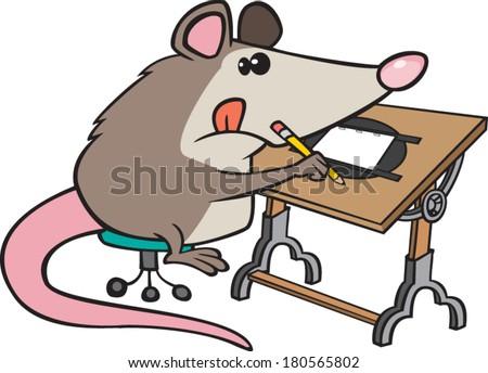 cartoon possum drawing art table stock vector 180565802 shutterstock rh shutterstock com possum magic clipart cute possum clipart