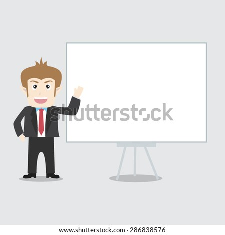 Cartoon Post employees to spend on advertising - stock vector