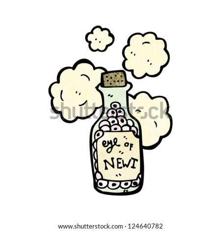 cartoon potion ingredient - stock vector