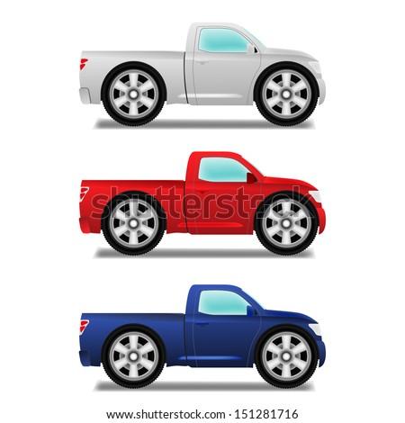 Cartoon Images of Pickup Trucks Cartoon Puckup With Big Wheels