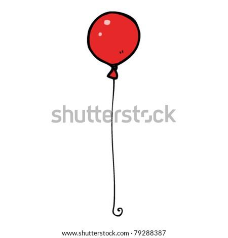 cartoon red balloon - stock vector
