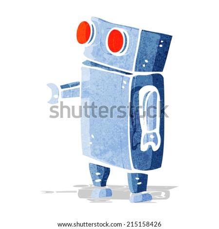 cartoon robot - stock vector