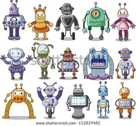 Cartoon robot- vector