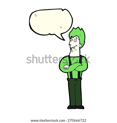 cartoon rotten tooth character with speech bubble - stock vector