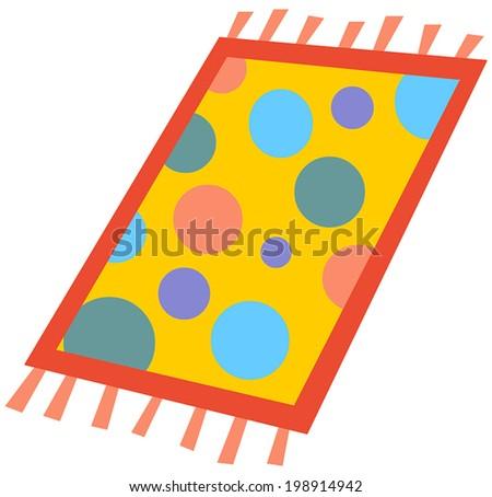 Cartoon rug - stock vector