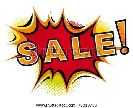 Cartoon-Sale.Vector - stock vector