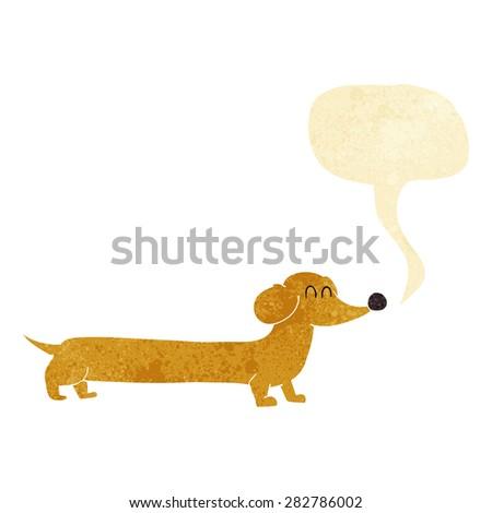 cartoon sausage dog - stock vector