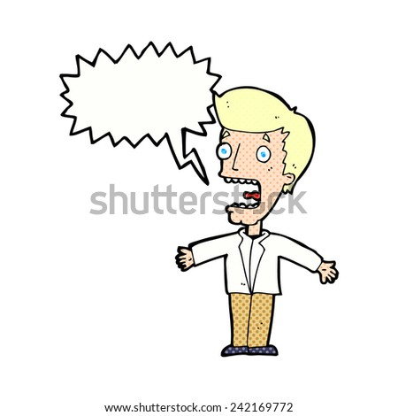 cartoon screaming man - stock vector