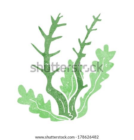 cartoon seaweed - stock vector