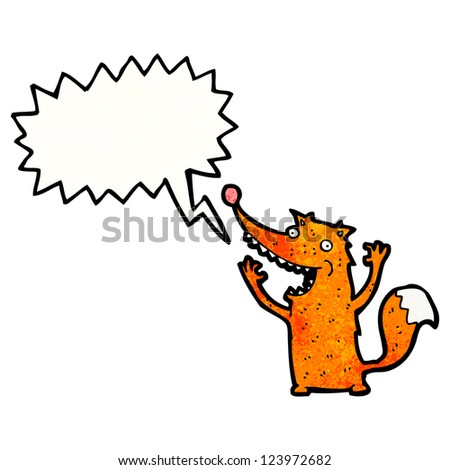 cartoon shouting fox