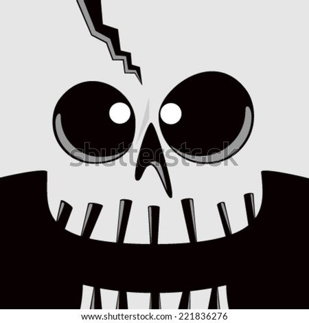 Cartoon Skull Face