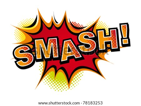 Cartoon-SMASH. Vector - stock vector