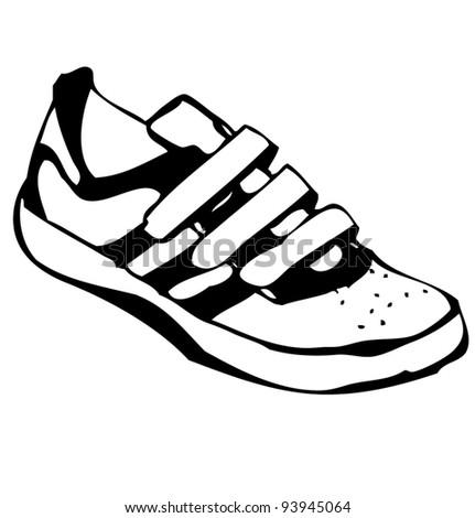 Cartoon sneakers shoe illustration - stock vector