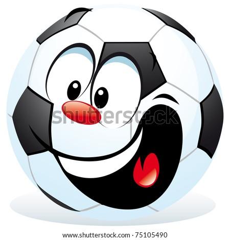 cartoon soccer ball - stock vector