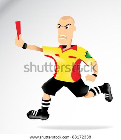 Cartoon Soccer Referee - stock vector
