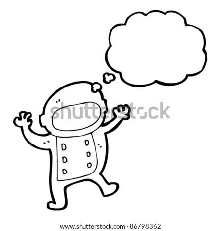cartoon space kid - stock vector