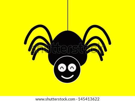 Cartoon spider stock vector