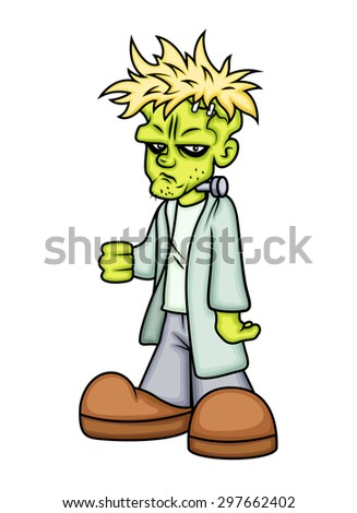 Cartoon Spooky Horrible Character Vector Illustration - stock vector