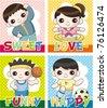 cartoon sport card - stock vector