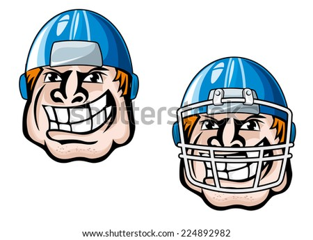 Cartoon sport player head for mascot design. Vector illustration - stock vector
