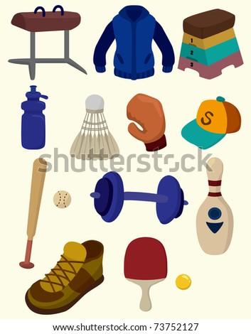 cartoon Sporting Goods icon - stock vector