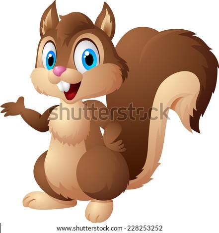 Cartoon squirrel - stock vector
