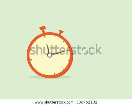 cartoon stopwatch - stock vector