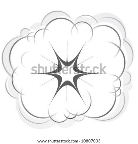 cartoon style vector explosion. Fits to a lot of projects and promotional campaigns. - stock vector