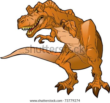 Cartoon T Rex - stock vector
