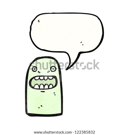 cartoon talking ghost - stock vector