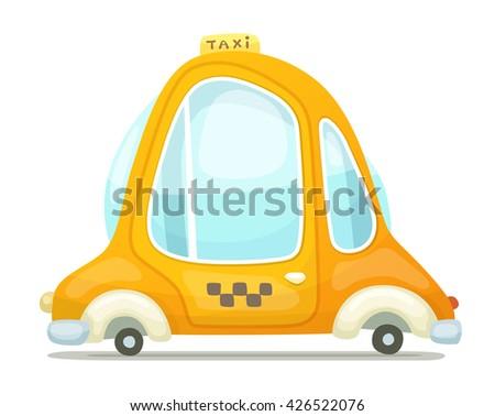 Cartoon Taxi Cab - stock vector