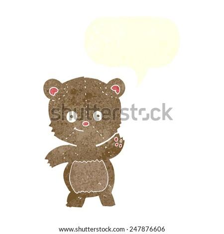 cartoon teddy bear - stock vector