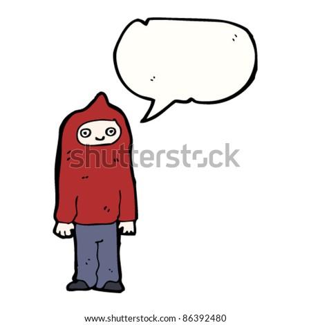 cartoon teenager talking - stock vector