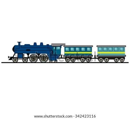 Cartoon Train Isolated - stock vector