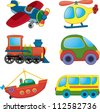 Cartoon transport. Vector set - stock photo