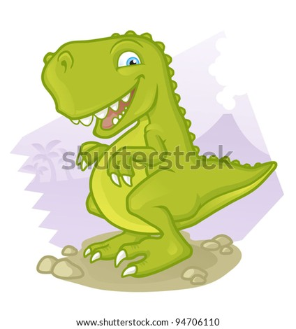 Cartoon Tyrannosaurus Res - stock vector