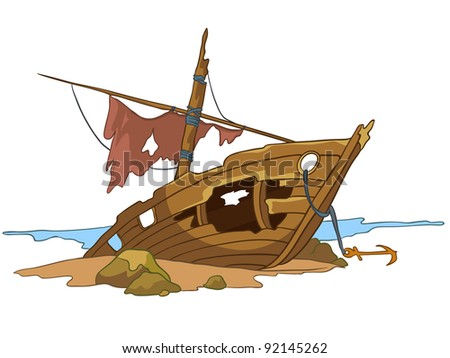 Image result for sunken ship cartoon