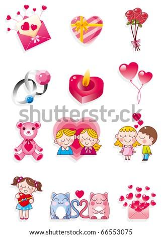 cartoon Valentine's Day