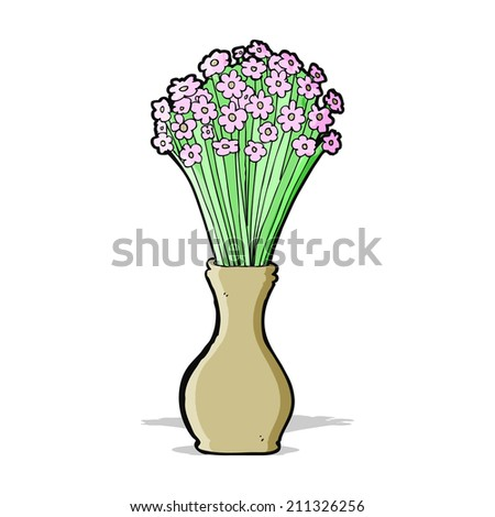 cartoon vase of flowers