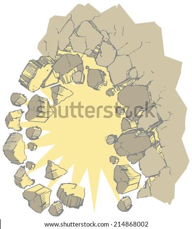 Cartoon Vector Clip Art Wall Exploding Stock Vector 214868002 ...