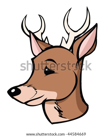cartoon vector illustration buck - stock vector