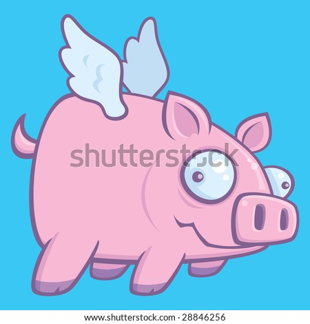 Cartoon Flying Pig Stock Images, Royalty-Free Images & Vectors ...
